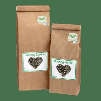 TeaLaVie-Blockbodenbeutel-Gruener-Tee-Blooming-Jasmine