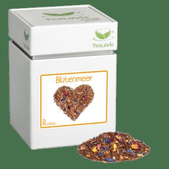 TeaLaVie-Teedose-diagonal-Haufen-Rooibos-Tee-Blütenmeer
